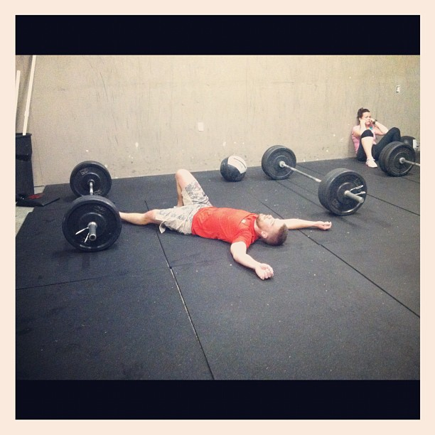 CrossFit WOD exhaustion