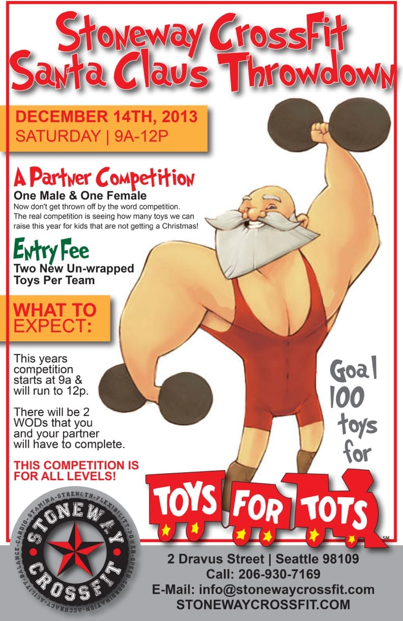 Toys For Tots Posters 2013 : Seattle challenge archives stoneway crossfit
